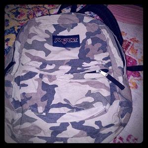 EUC Jansport camouflage backpack